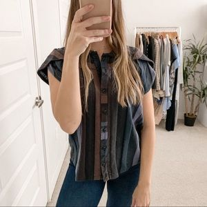 Ace & Jig Monet Striped Blouse Bewitched